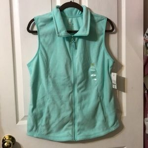 Made For Life Sleeveless Teal Vest, Zipper Front